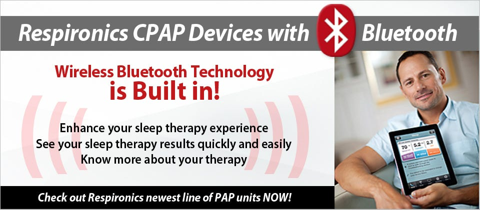 Respironics PAP units with Bluetooth